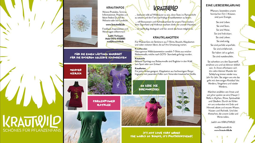 Flyer für KRAUTWILD